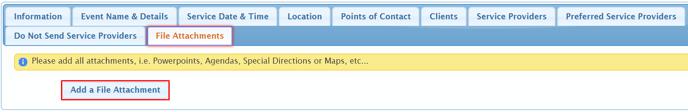 add a file attachment. from tab file attachments article