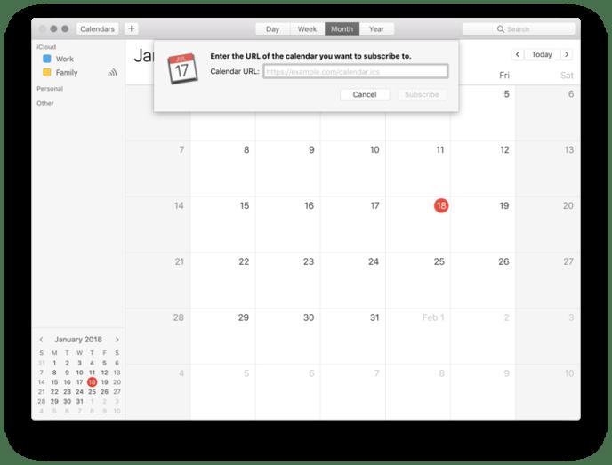 calendar url macOS
