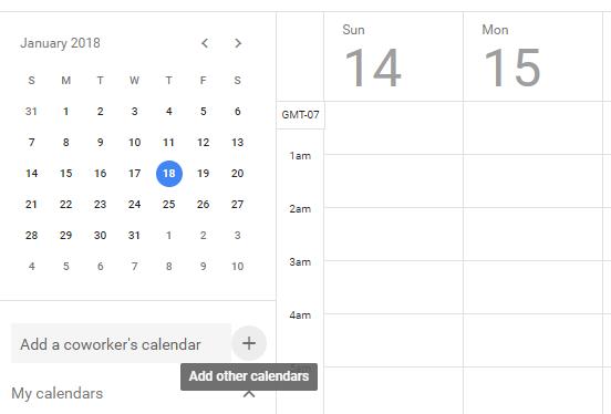 google calendar add other calendars