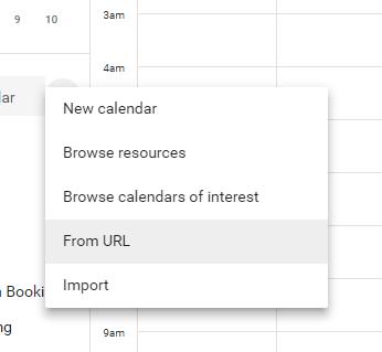 google calendars add calendar from url