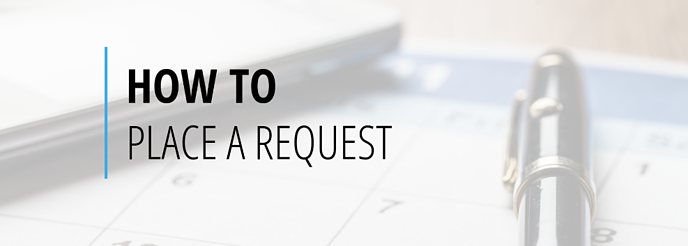 How to place a request