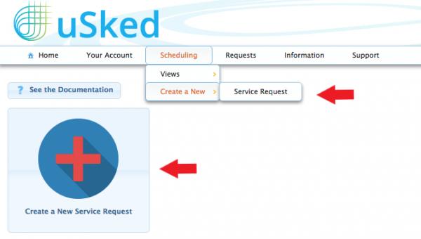 create a new service request