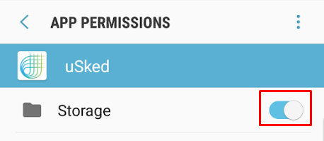 app permissions storage toggle on for pdf download issue