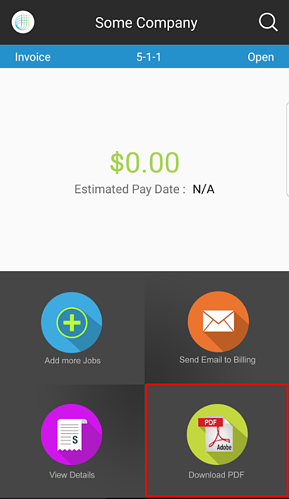 download pdf button some company example