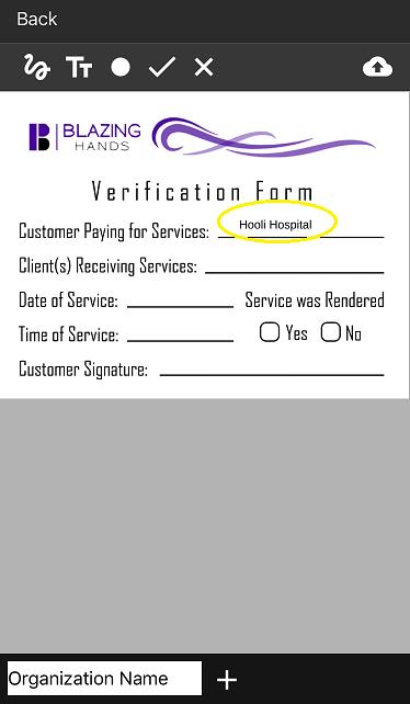 added prepopulated info for fill and sign option for VF