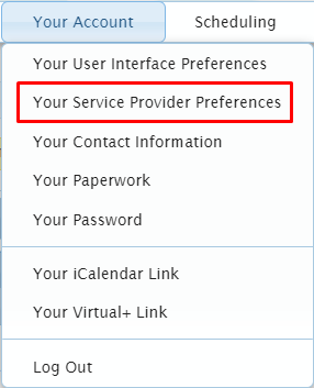 your service provider preferences path 7.15.2020