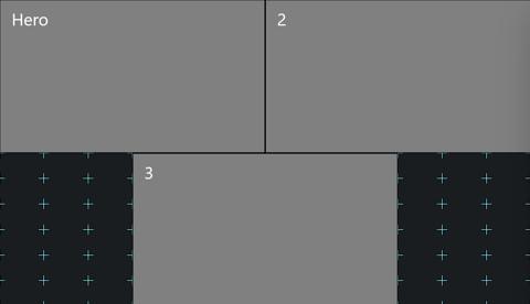 2+1 grid view