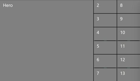 2x6 + 1 hero view