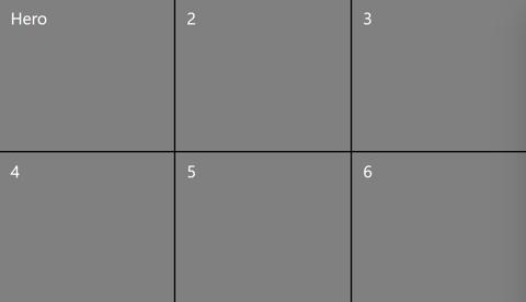 3x2 grid view
