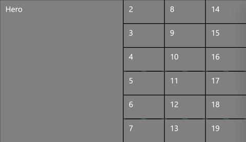 3x6 + 1 hero view