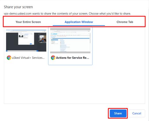 sharing screen options 5.11.2020