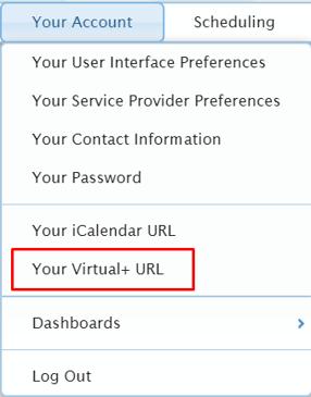 your virtual+ URL path