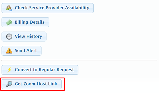 get zoom host link button 5.14.2020
