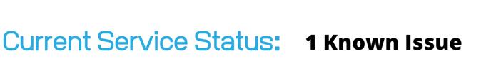 Service status 1 issue